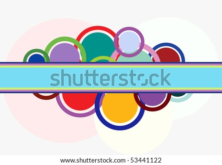 Abstract background with rings and circles. The different graphics are all on separate layers so they can easily be moved or edited individually.
