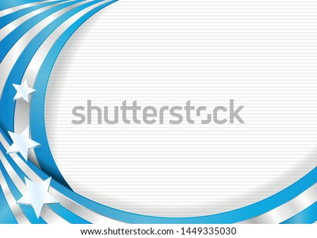 Abstract background with shapes blue and white with the colors of the flag of Guayaquil city, for use as Diploma or Certificate. Vector image