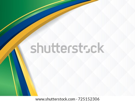 Abstract background with shapes with the colors of the flag of Brazil, to use as Diploma or Certificate