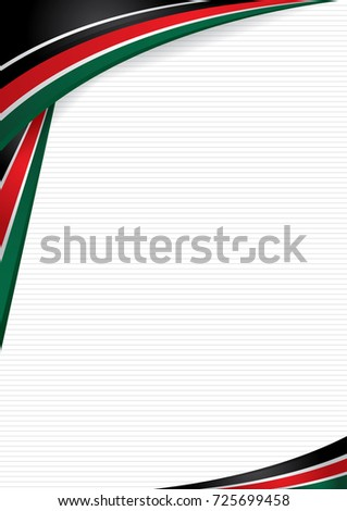 Abstract background with shapes with the colors of the flag of Kenya, to use as Diploma or Certificate. Format A4. Vector image