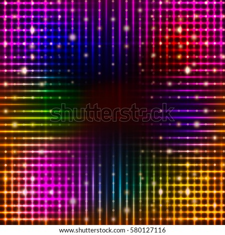 Stock Photo Abstract background with shining magic lights. Vector illustration