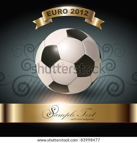 abstract background with soccer ball, vector