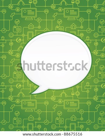 abstract background with social media icons - vector illustration with copy space for text