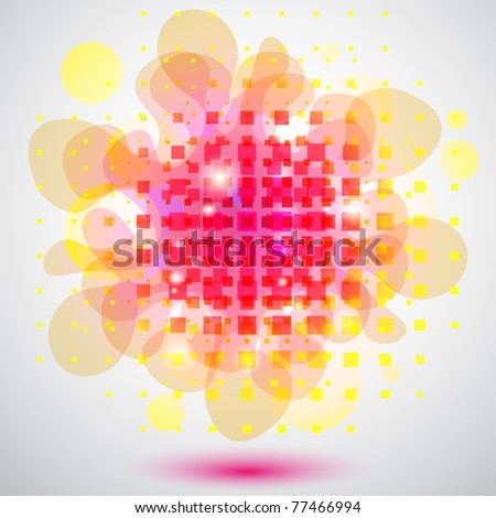 Abstract background with squares and bubbles