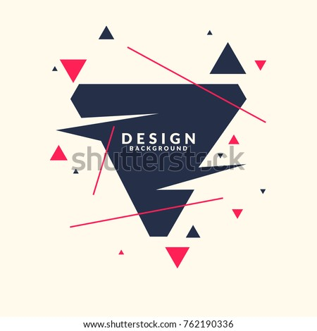 Abstract background with straight lines and geometric objects in minimalistic flat style on a light background. Bright vector illustration