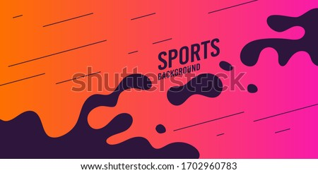 Abstract background with straight lines and splashes in minimalist flat style. Vector suitable design - Vector illustration