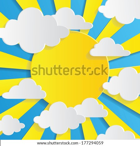 abstract background with sun