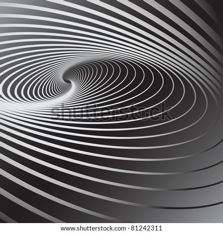 Abstract background with swirl movement effect. Vector art.