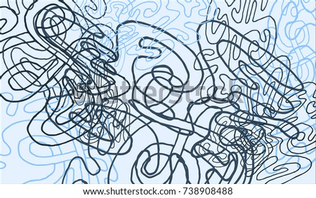 Abstract Background with Tangled Lines and Figures. Crazy Modern Design for Album Cover, Card, Invitation. Rectangular Base for Banner or Poster.
