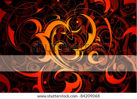 Abstract background with text line