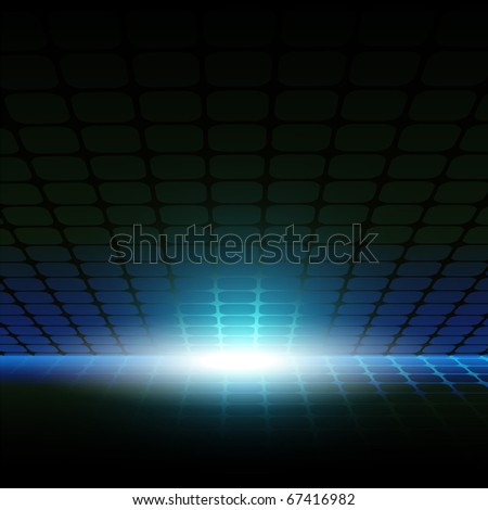 Abstract background with the image of grid and flash