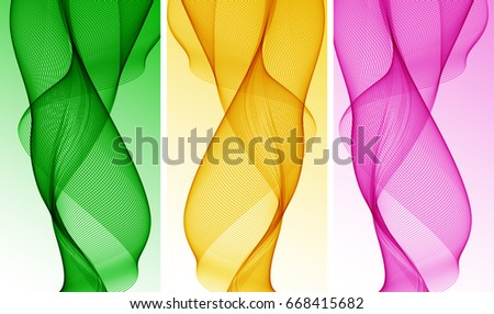 abstract background with three