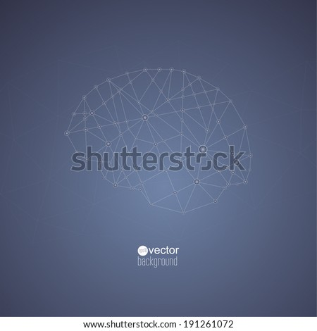 Abstract  Background with transparent Mesh and glowing lines, circles and shapes. Techno design. vector. Connections in the brain