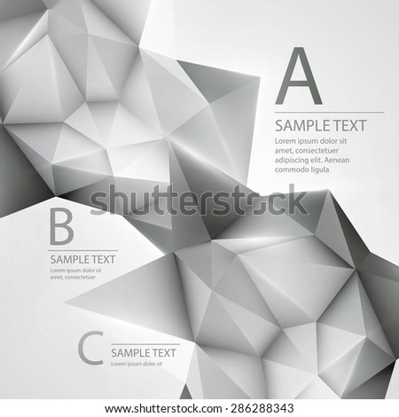 Abstract background with triangle. Vector illustration EPS 10