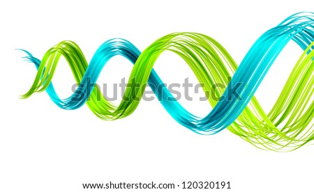 Abstract background with two twisted waves. ESP10 vector.