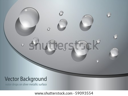 abstract background with water drops, vector.