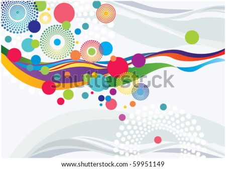 Abstract Background with Waves and Bubbles