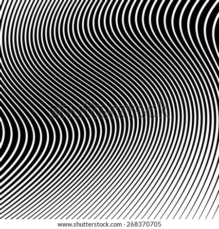 Abstract background with wavy lines. Wavy lnes vector #1