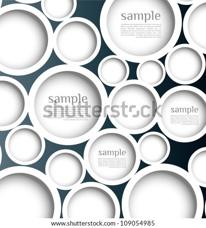 Abstract background with web design bubble, vector. Modern, clean, Design be used for banners, website layout vector