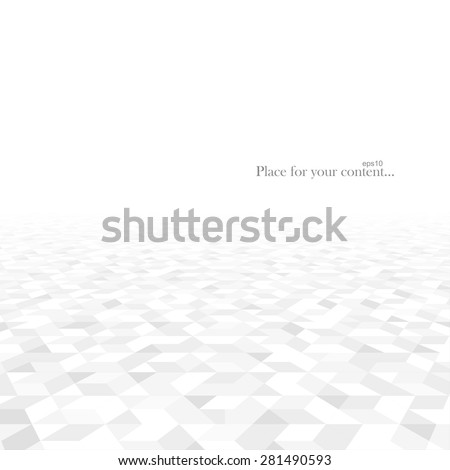 Abstract background with white geometric shapes. Perspective concept. Vector illustration - eps10. #281490593