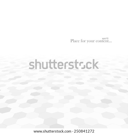 Abstract background with white shapes. White and grey texture. Vector illustration - eps10