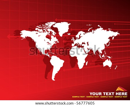 abstract background with world
