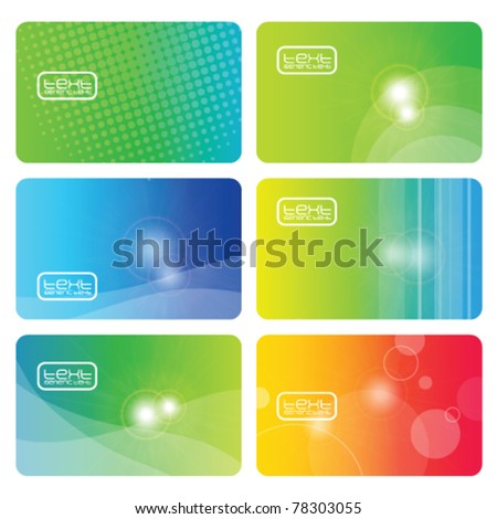 Abstract backgrounds - business cards