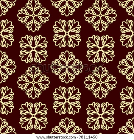 Abstract backgrounds, damask ornament, monochrome seamless pattern, vector wallpaper, floral fashion fabric and arabesque wrapping with graphic element for decoration and design