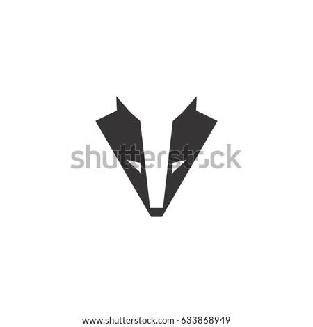 abstract badger logo