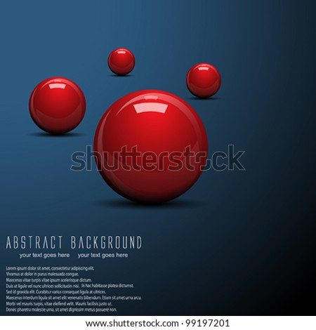 Abstract ball background. Vector