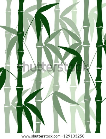 abstract bamboo silhouettes on