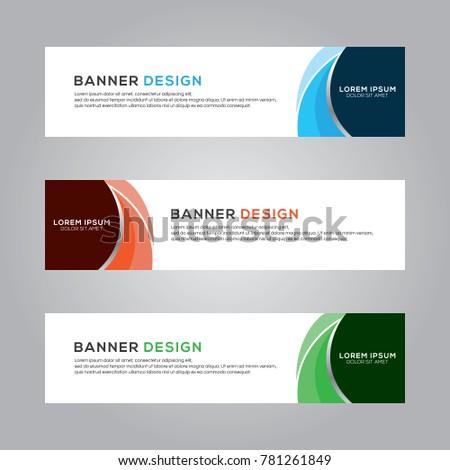 Abstract Banner Background Design Vector Template, Modern Illustration #781261849