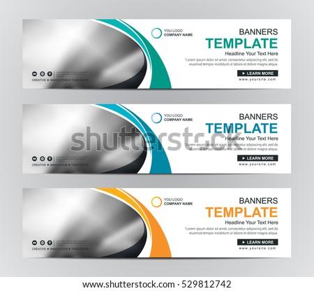 Abstract banner design background, vector website headers