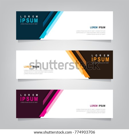 Abstract banner design background, vector website headers template