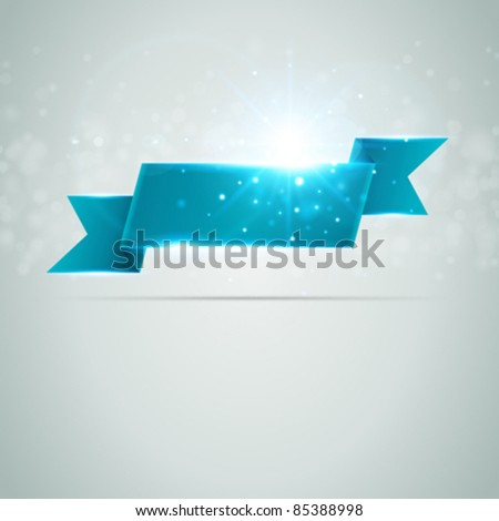Abstract banner from ribbon vector background eps 10