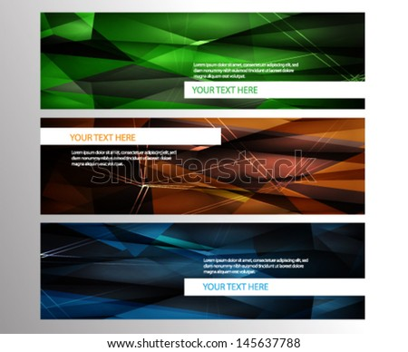 Abstract Banner Set  #145637788