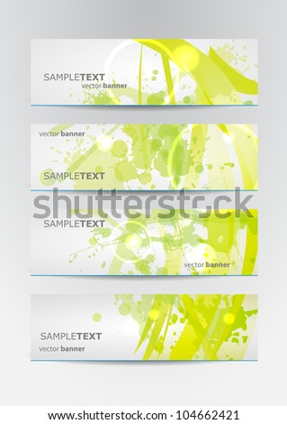 abstract banner set in vector format