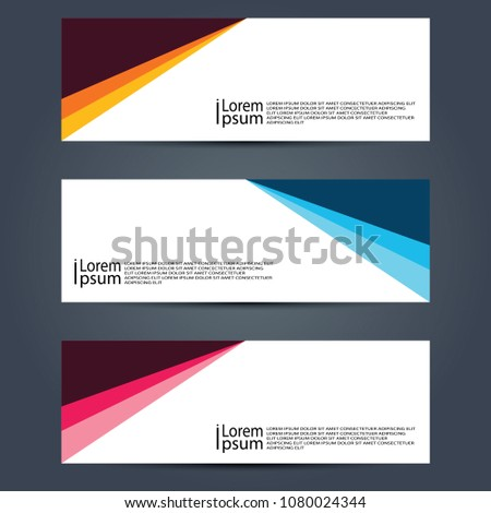 Abstract banner Vector #1080024344