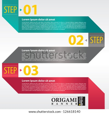Abstract banner vector in three step.EPS 10