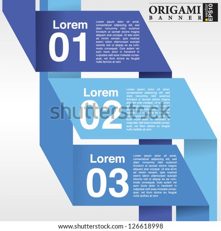 Abstract banner vector in three step.EPS10