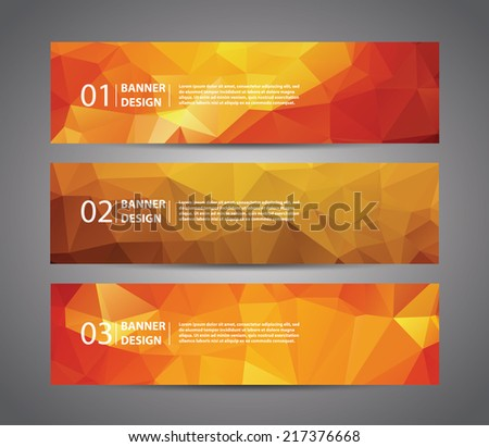 abstract banner with polygon
