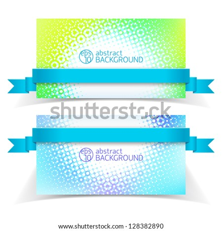 Abstract banners for design. Vector Illustration, eps10, contains transparencies.