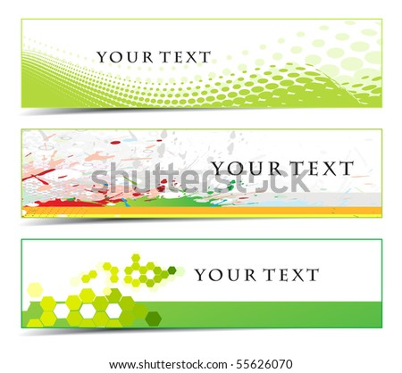 Abstract banners on different themes, multi-colored, vector illustration.