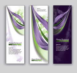 Abstract Banners. Vector Backgrounds. Eps10 Format.