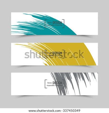 abstract banners with brush