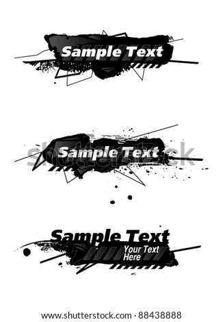abstract banners with sample text