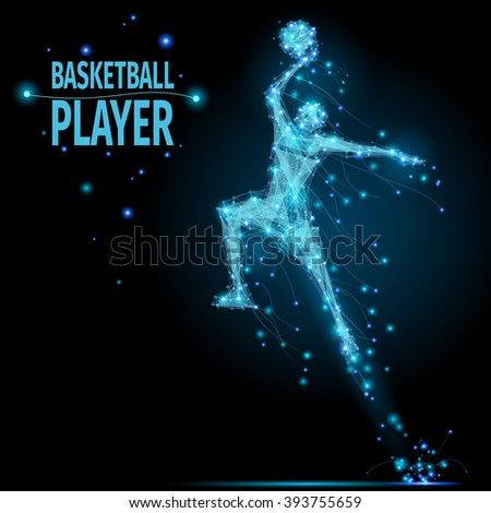 abstract basketball player in