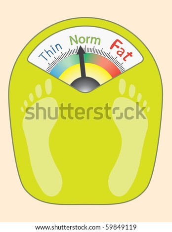 Abstract Bathroom Scales - vector illustration