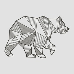 Abstract bear geometric