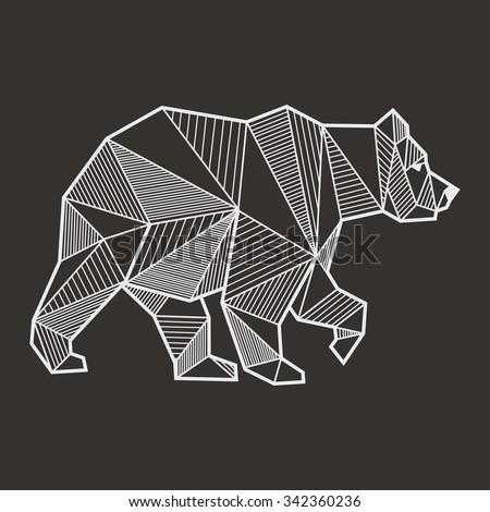 Abstract bear geometric